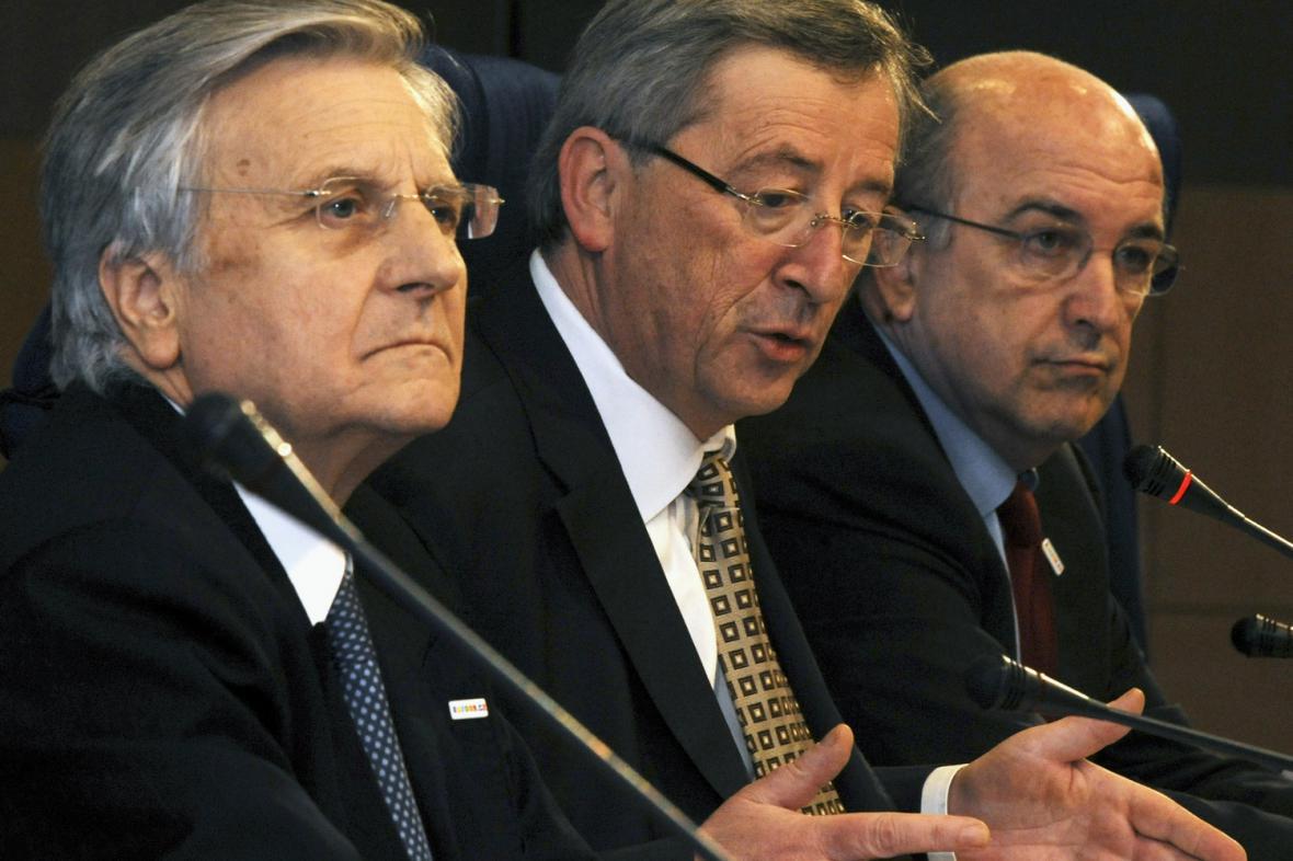 Trichet, Juncker a Almunia