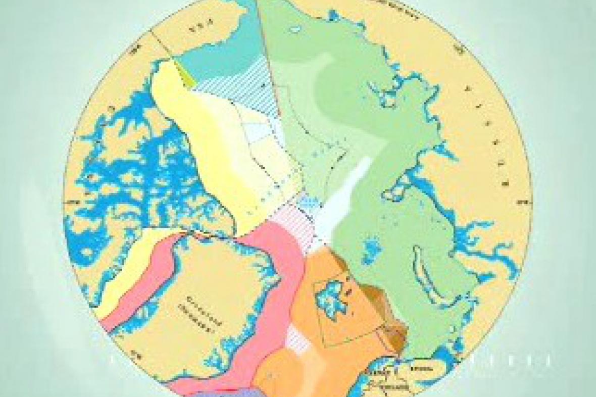 Mapa sporných oblastí Arktidy