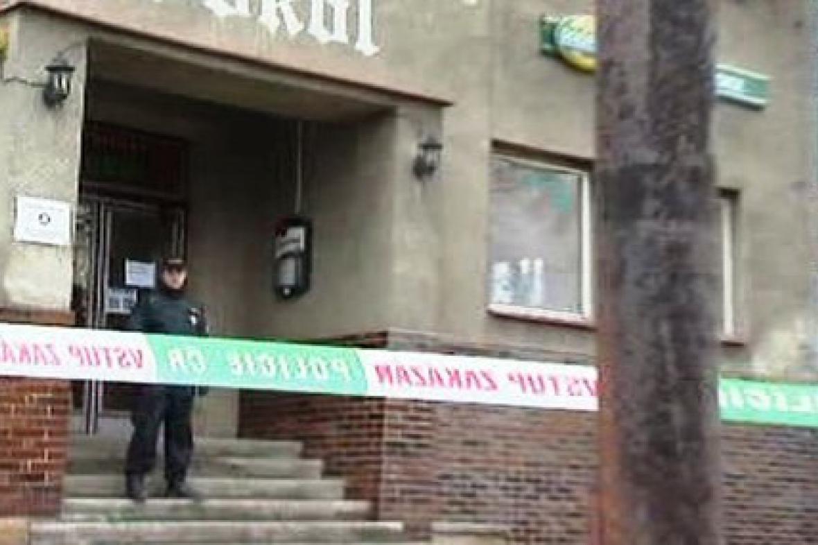 Policie v restauraci Sokol v Petřvaldu