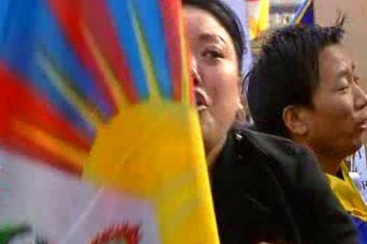 Demonstrace za Tibet