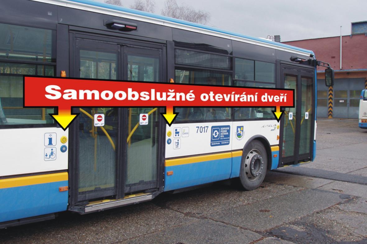Bezbariérový autobus MHD