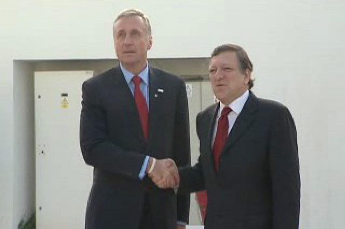 Barroso a Topolánek