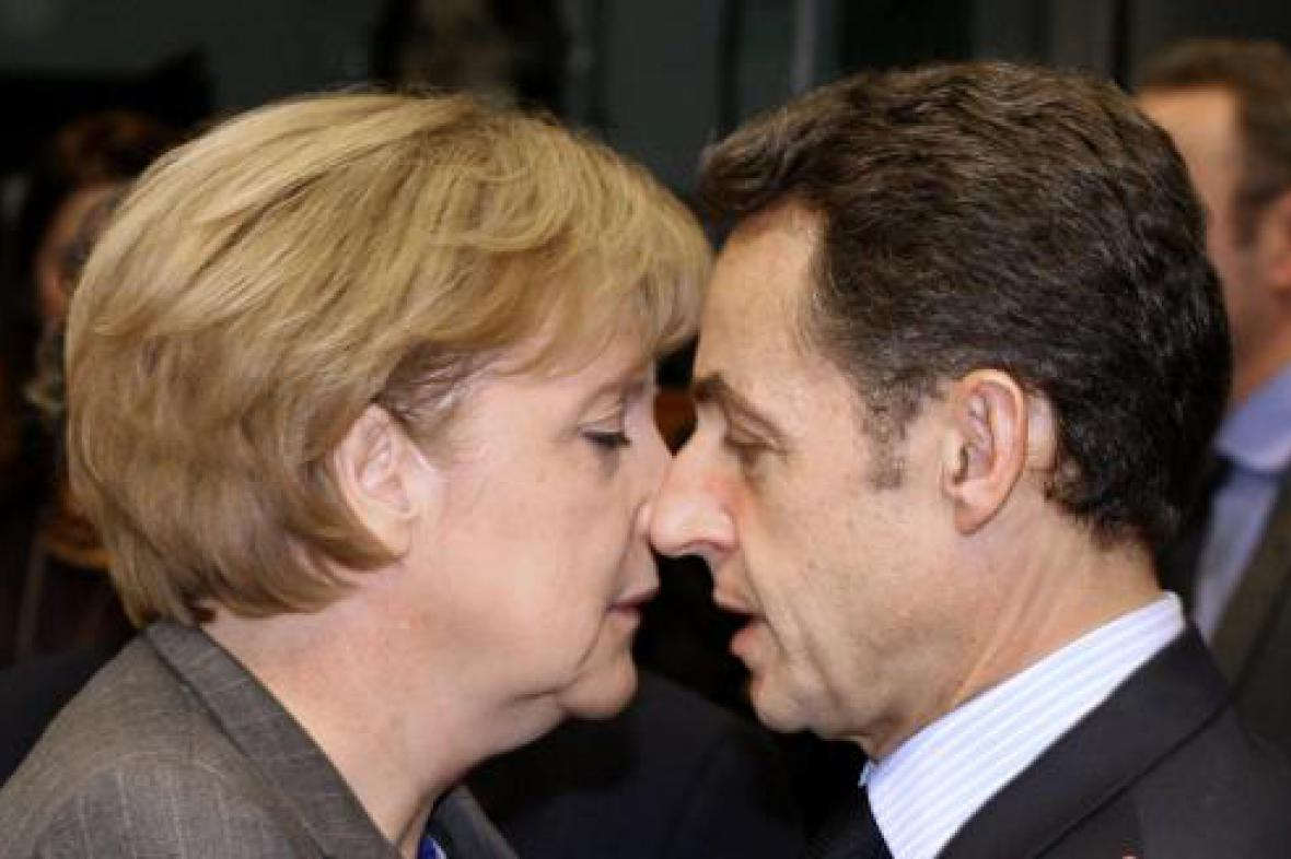 Angela Merkelová  a Nicolas Sarkozy