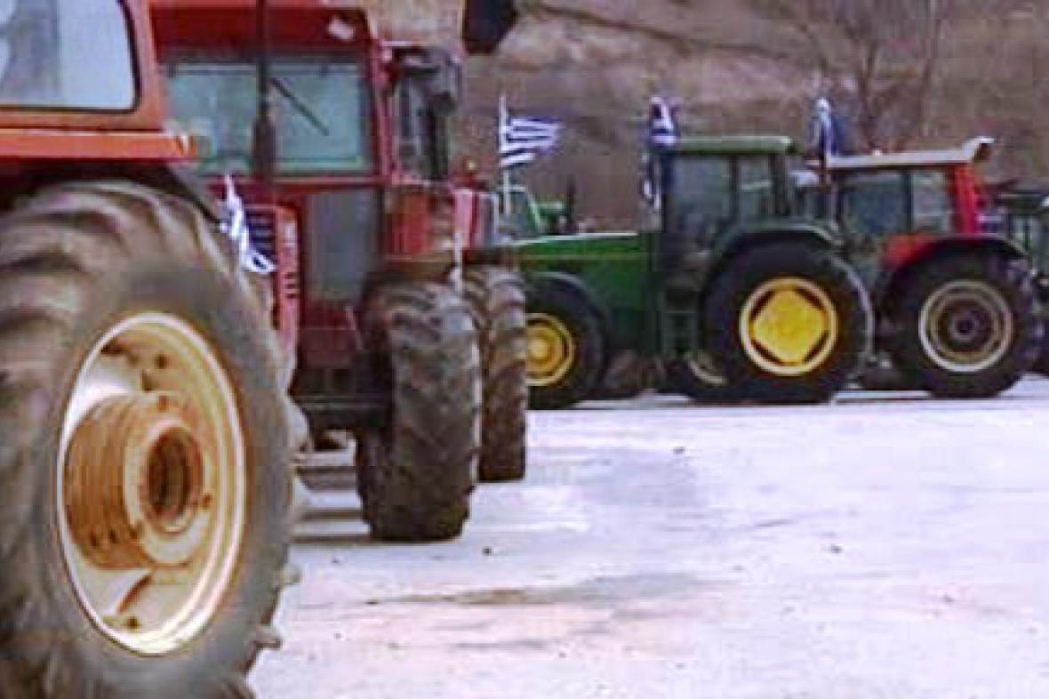 Stávka řeckých zemědělců