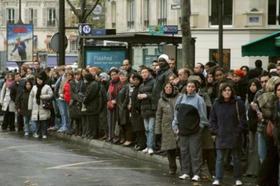 Stávka v Paříži