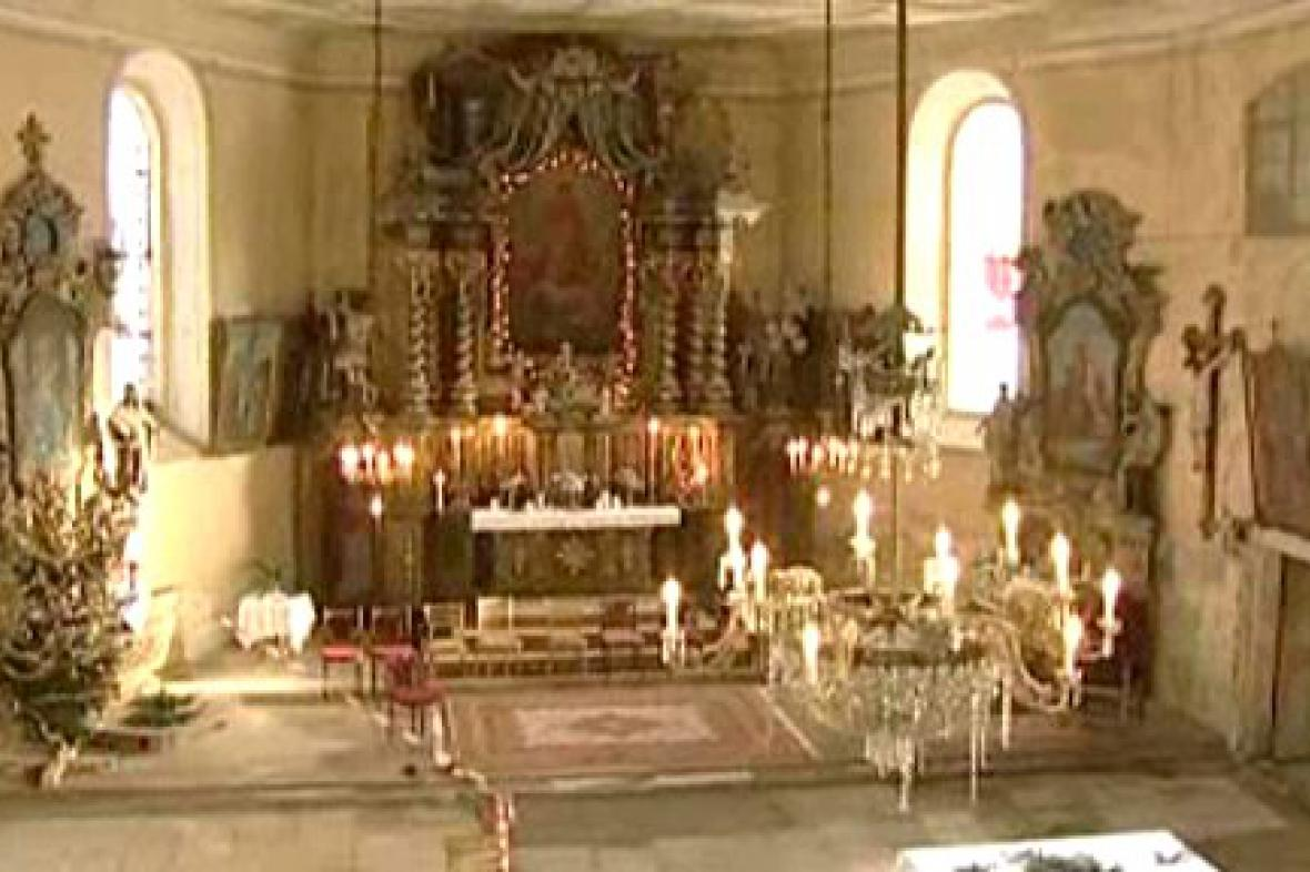 Varhany v kostele v Hoře Svaté Kateřiny