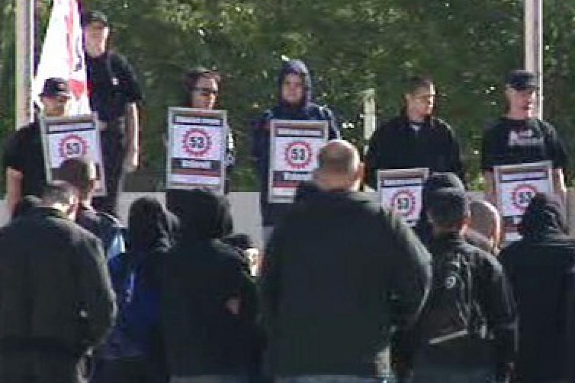 Demonstrace nacionalistů v Kladně