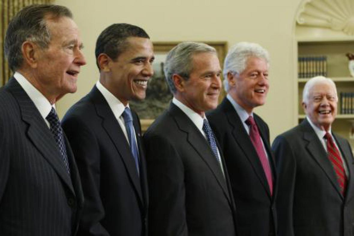 Prezidenti USA na společném obědě