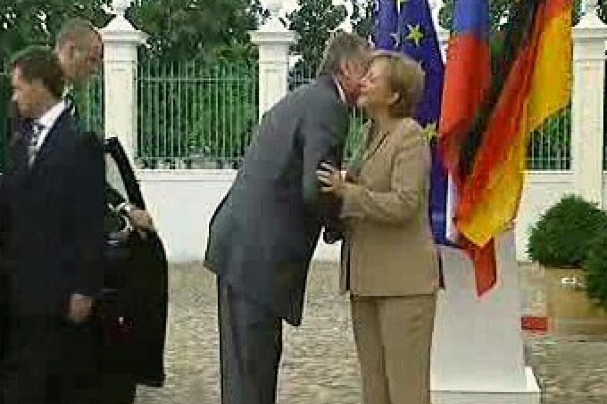 Merkelová a Topolánek