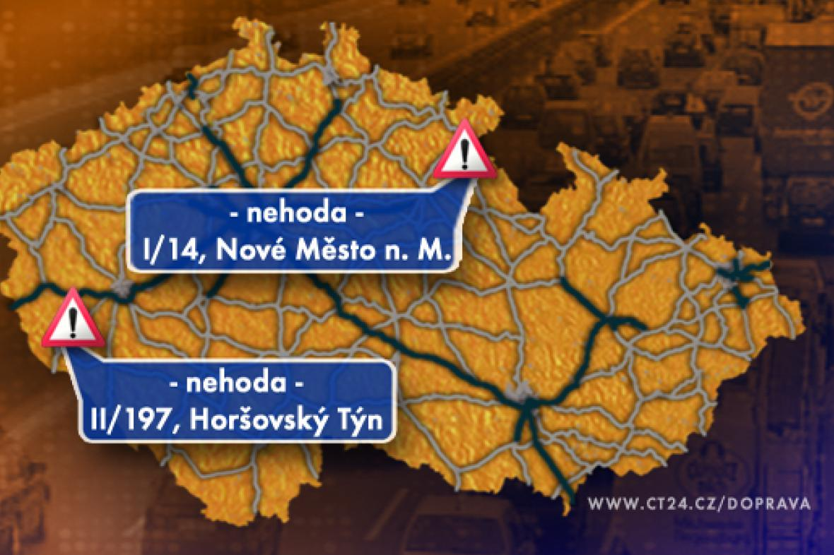 Dopravní situace v pondělí 5. 1. 2009