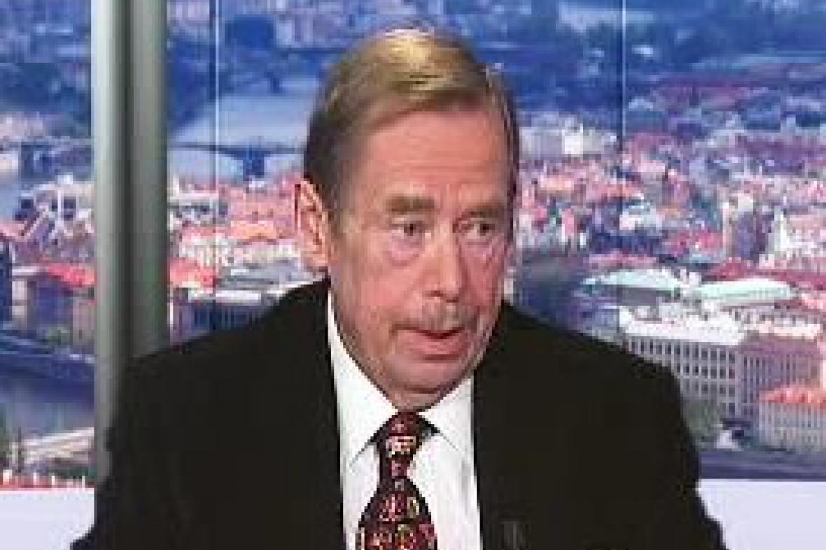 Václav Havel v pořadu Otázky Václava Moravce