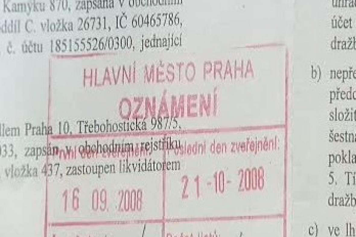 Dokument z katastru nemovitostí