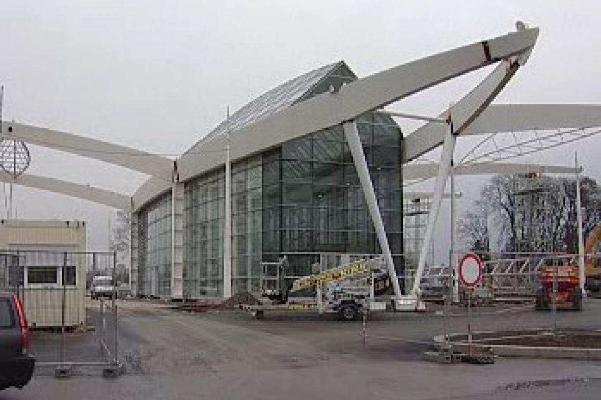 Stavba autobusového nádraží