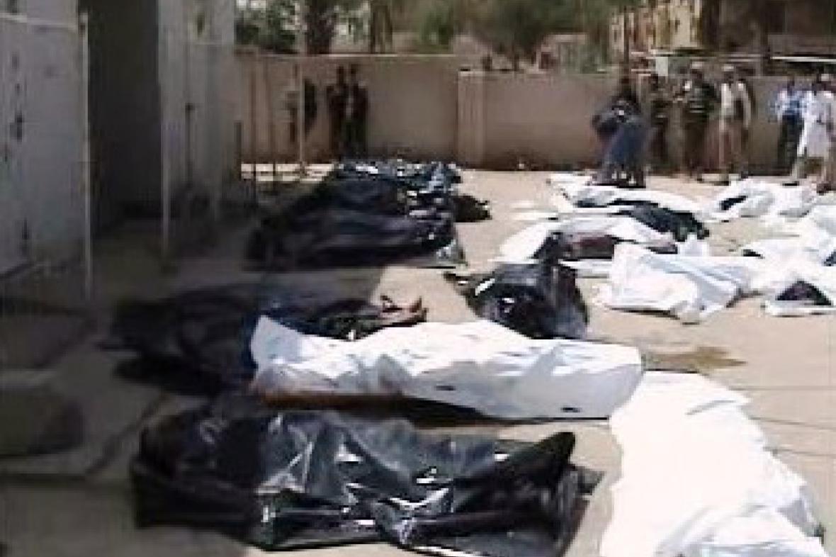 Oběti pumového útoku