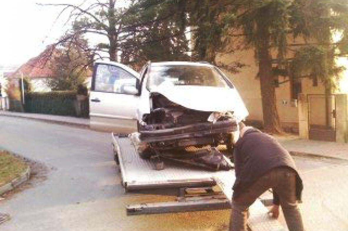 Odtah havarovaného vozidla
