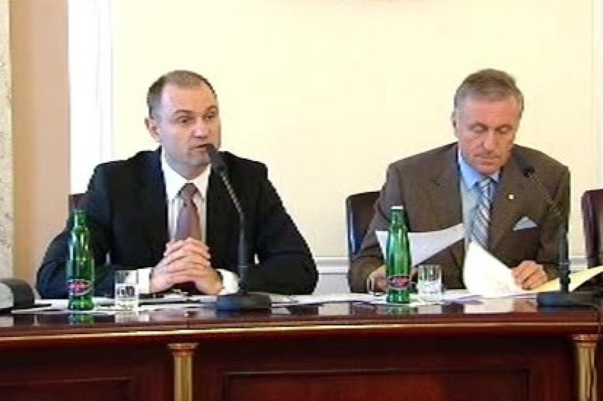 Ivan Langer a Mirek Topolánek