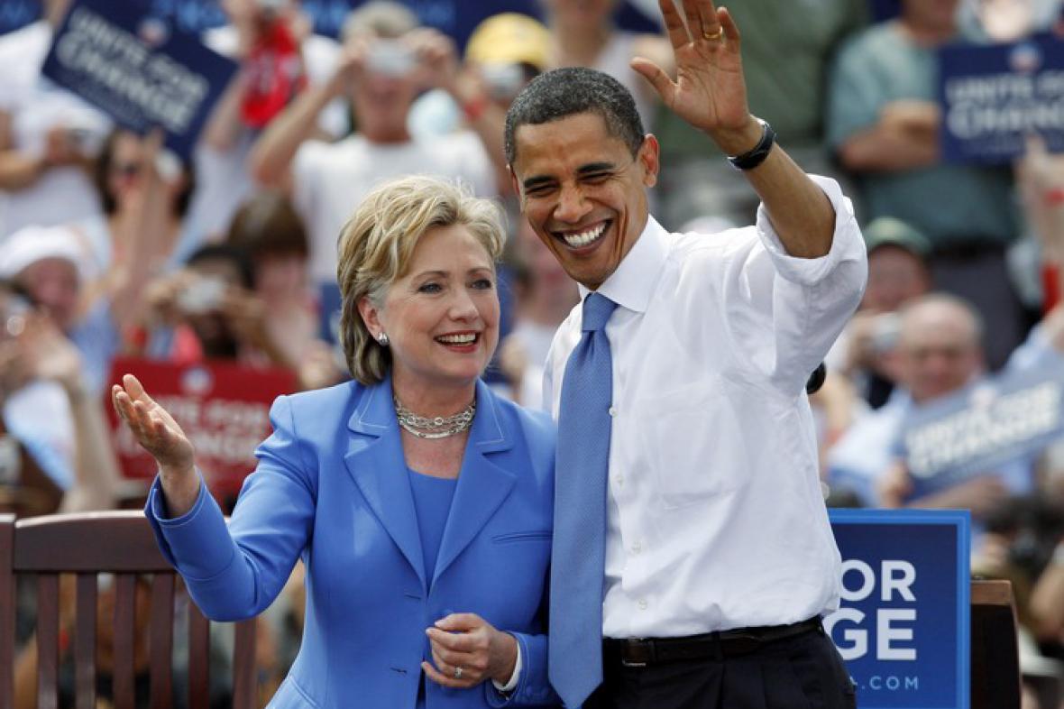 Hillary Clintonová a Barack Obama