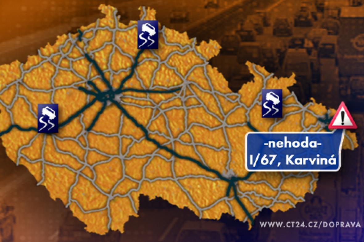 Dopravní situace v úterý 25. 11. 2008