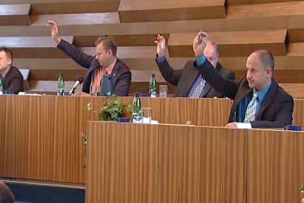 Hlasování zastupitelstva