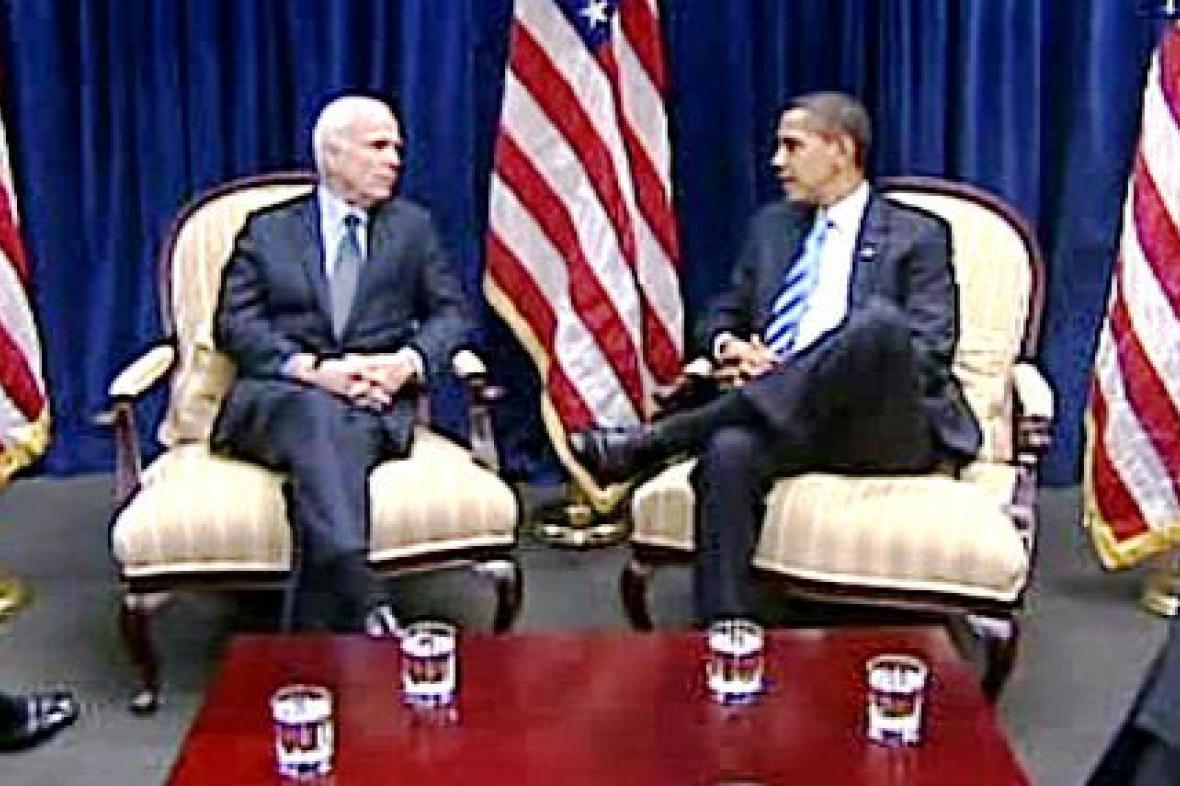 John McCain a Barack Obama
