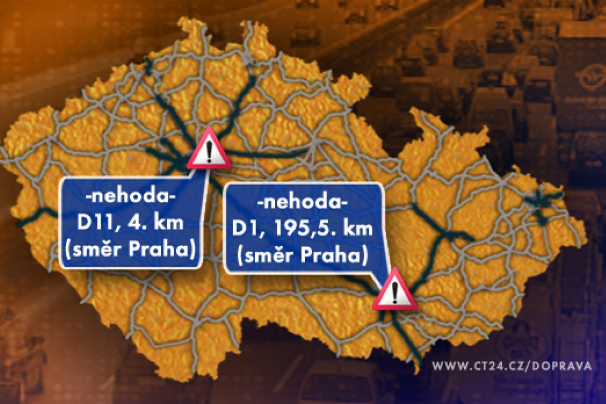 Dopravní situace v úterý 18. 11. 2008