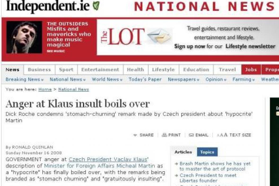 Irské noviny Irish Independent