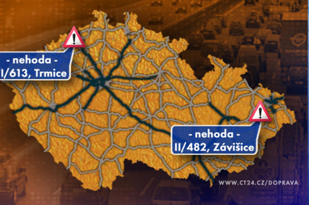 Dopravní situace v pondělí 10. 11. 2008