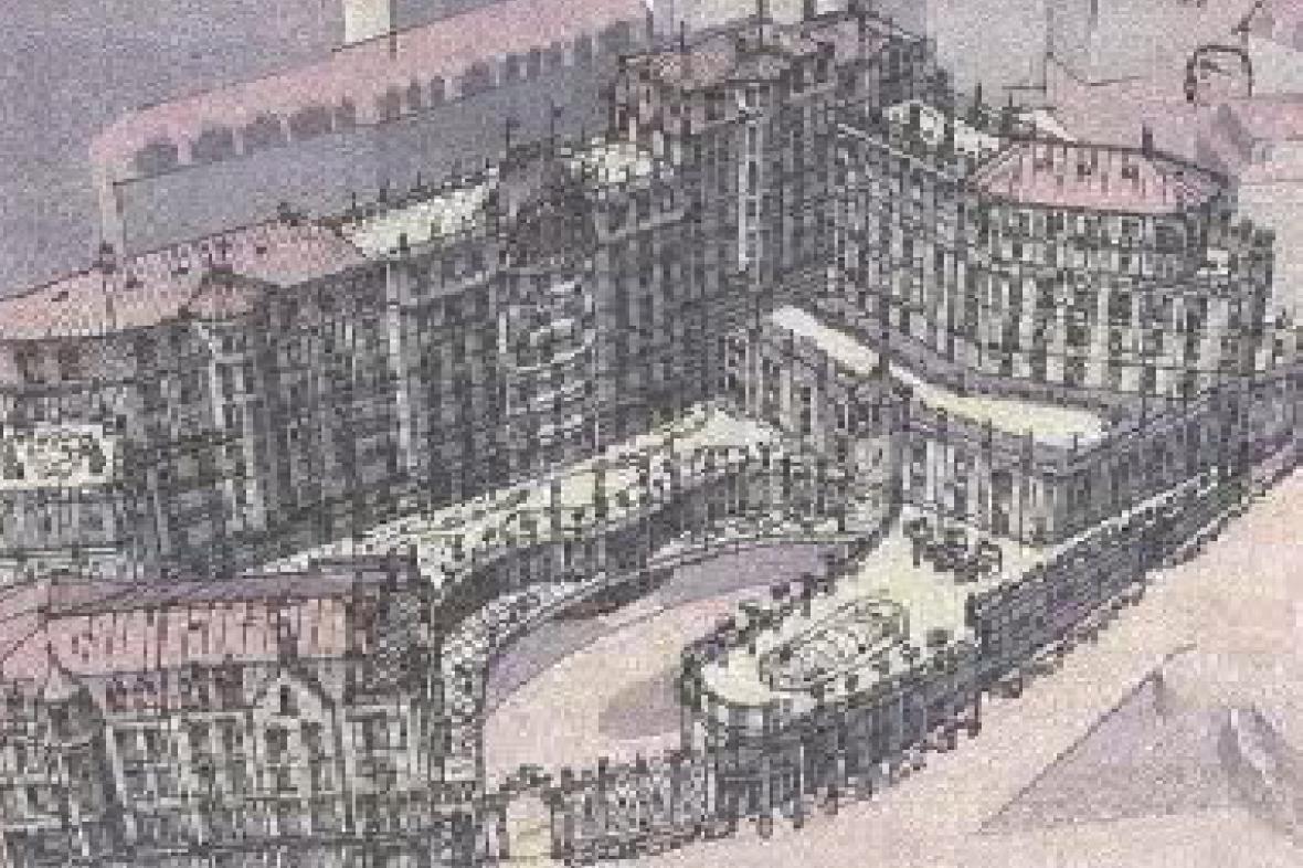 Model hotelového komplexu