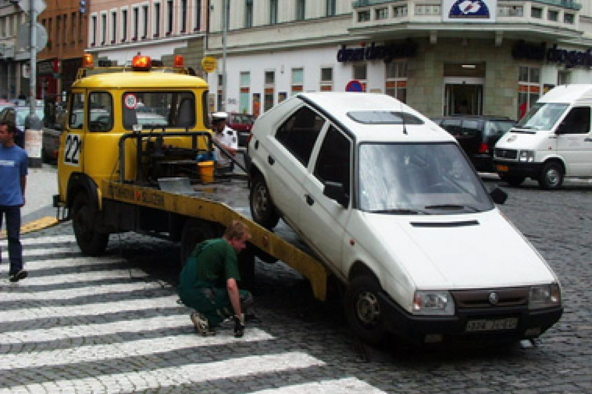Odtahová služba v akci