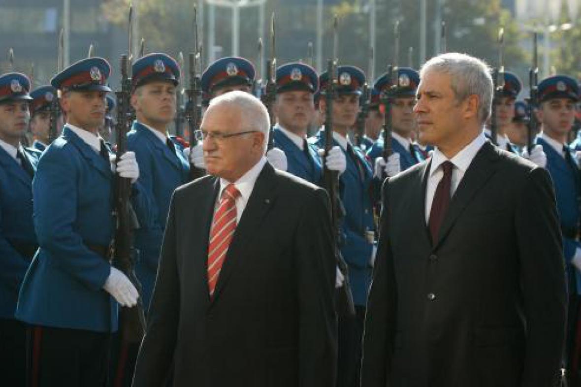 Václav Klaus a Boris Tadić