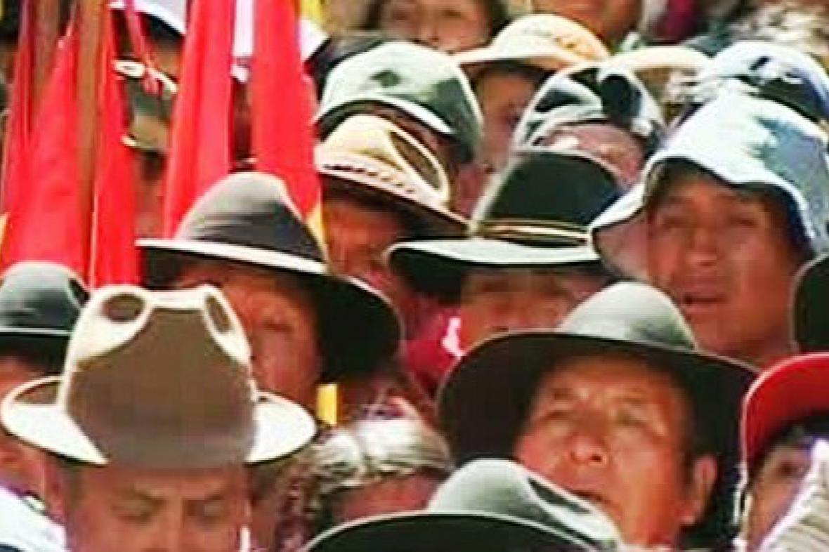 Farmáři v Bolívii
