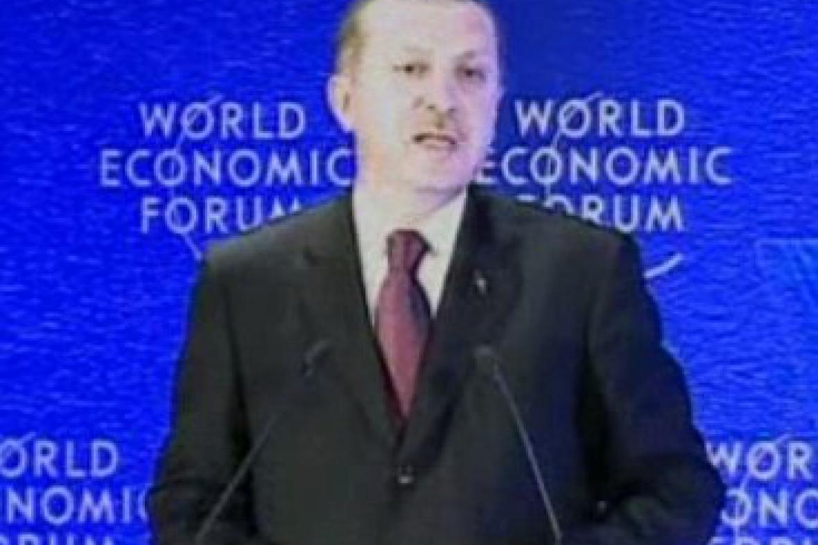 Turecký premiér Erdogan na Světovém ekonomickém fóru