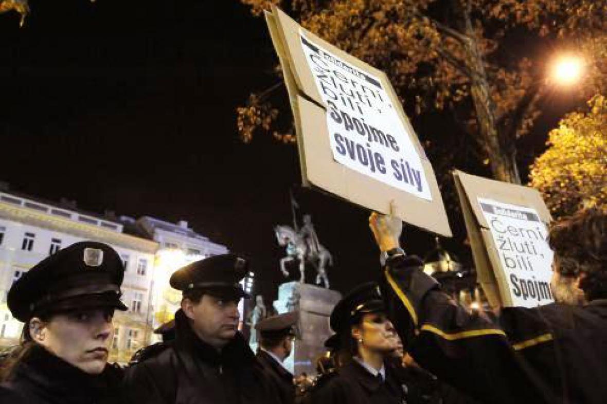 Shromáždění nacionalistů na Václavském náměstí