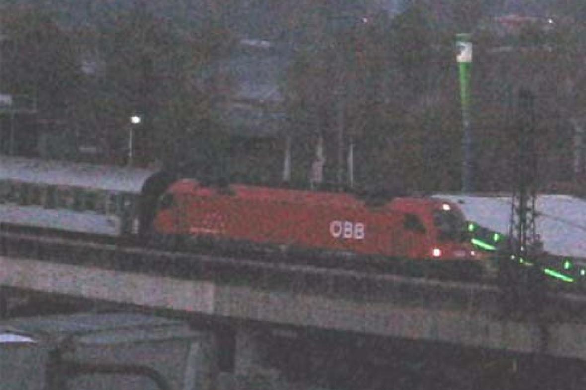 Lokomotiva 1216 na vlaku Ex 573