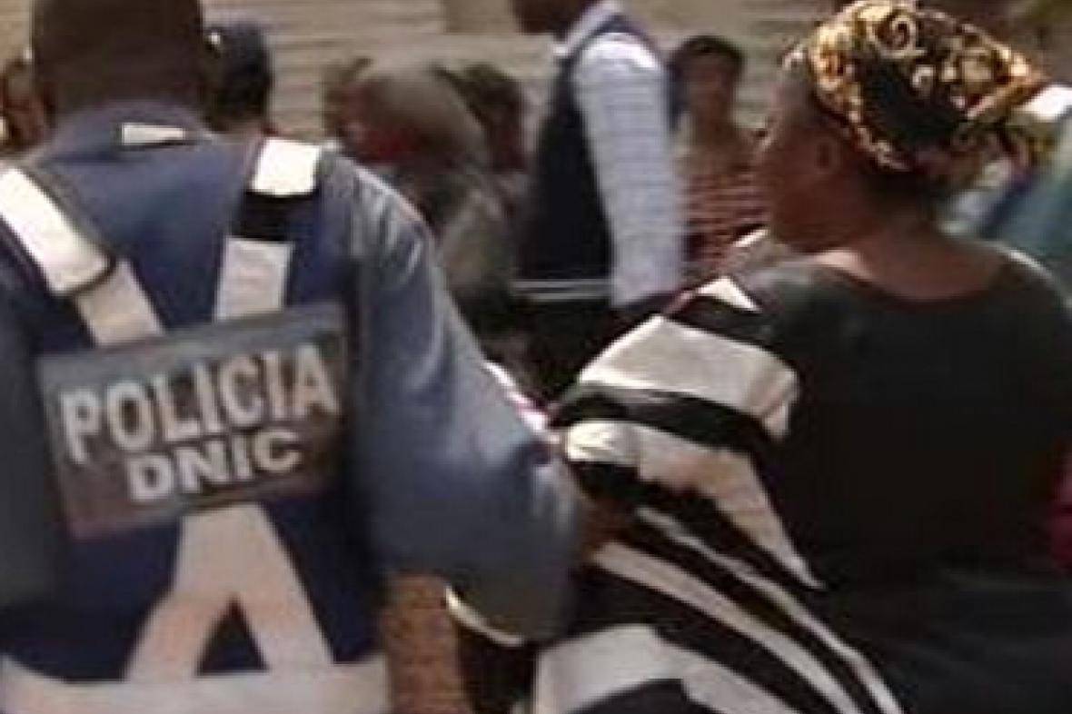 Zásah angolské policie