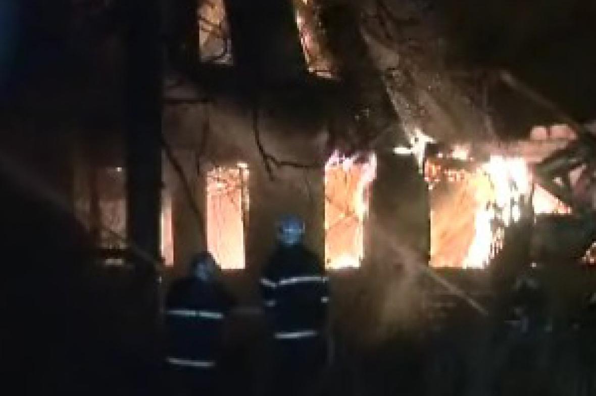 Požár montovny