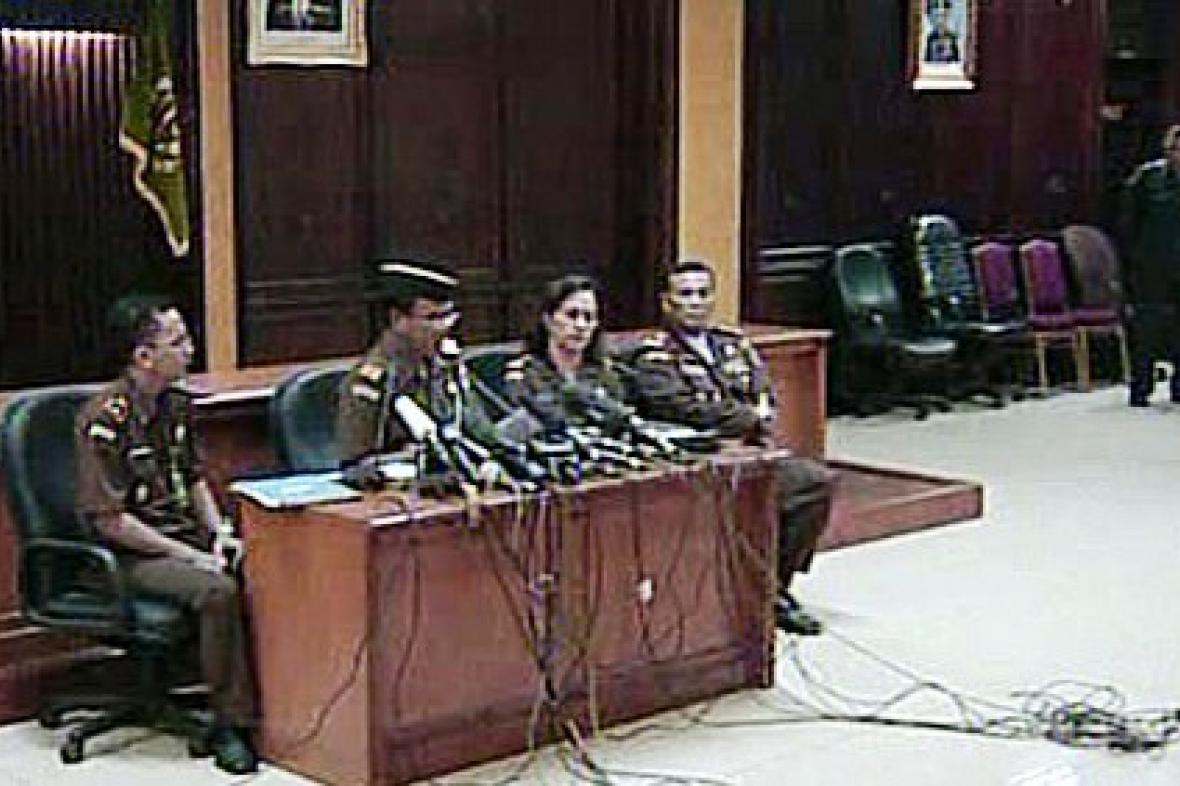 TK k soudu s teroristy v Indonésii