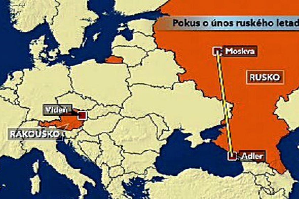 Pokus o únos ruského letadla