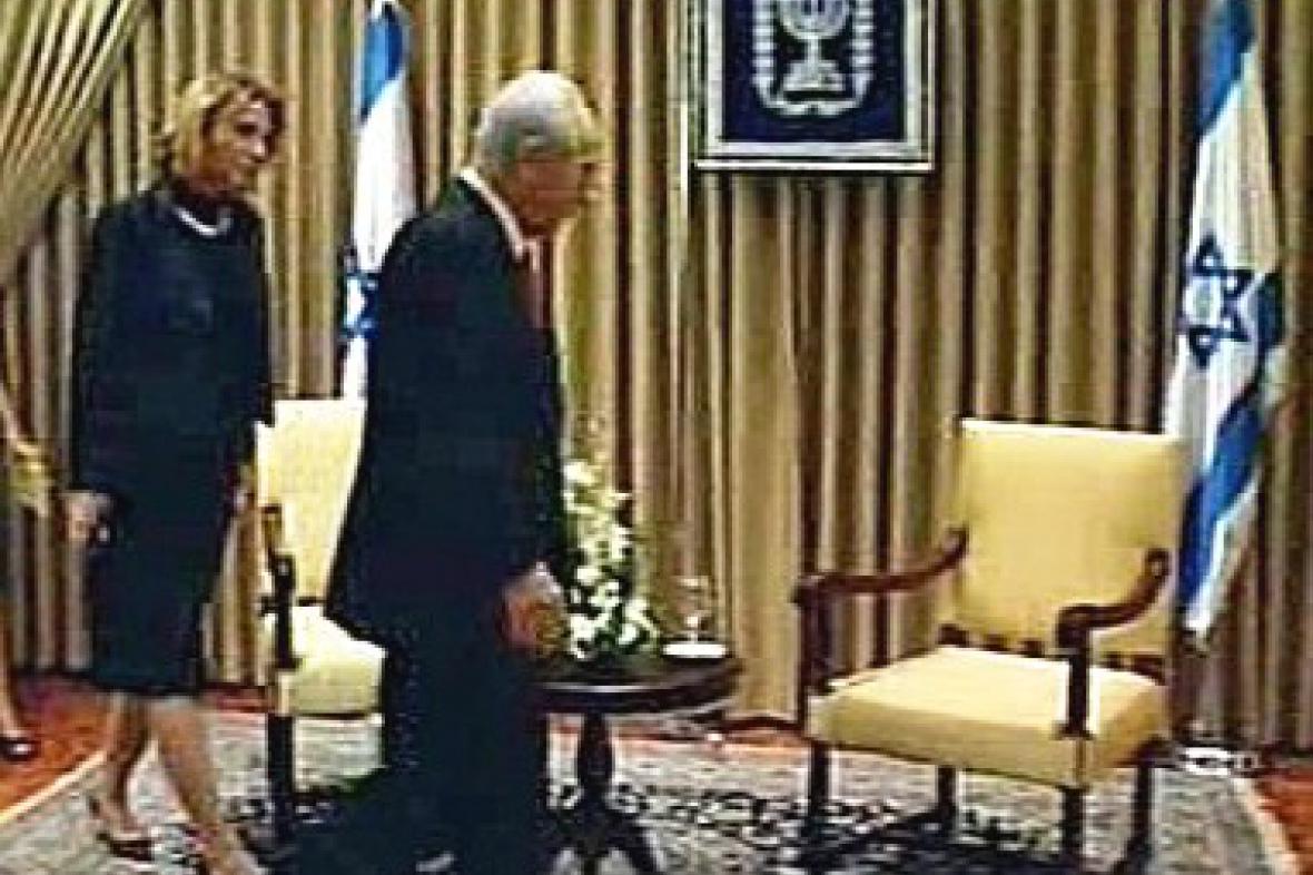 Cipi Livniová a Šimon Peres
