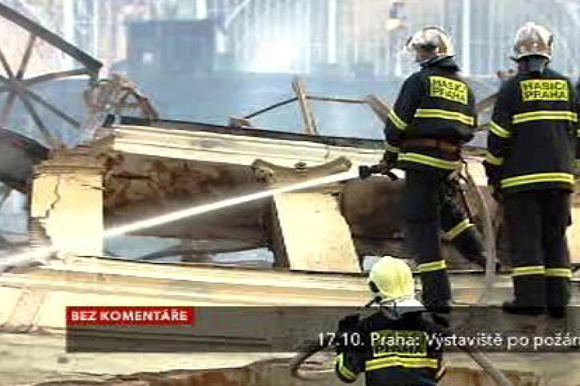 Výstaviště den po požáru