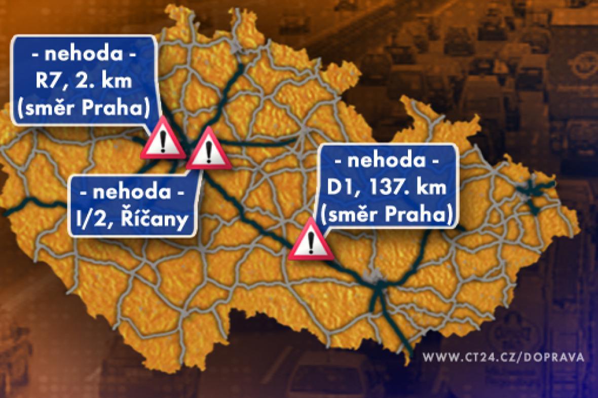 Dopravní situace v úterý 14. 10. 2008