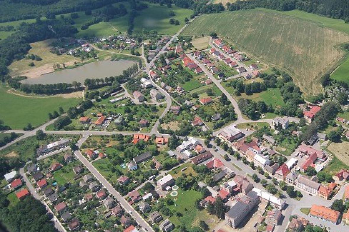Letecký snímek okolí Nasavrk