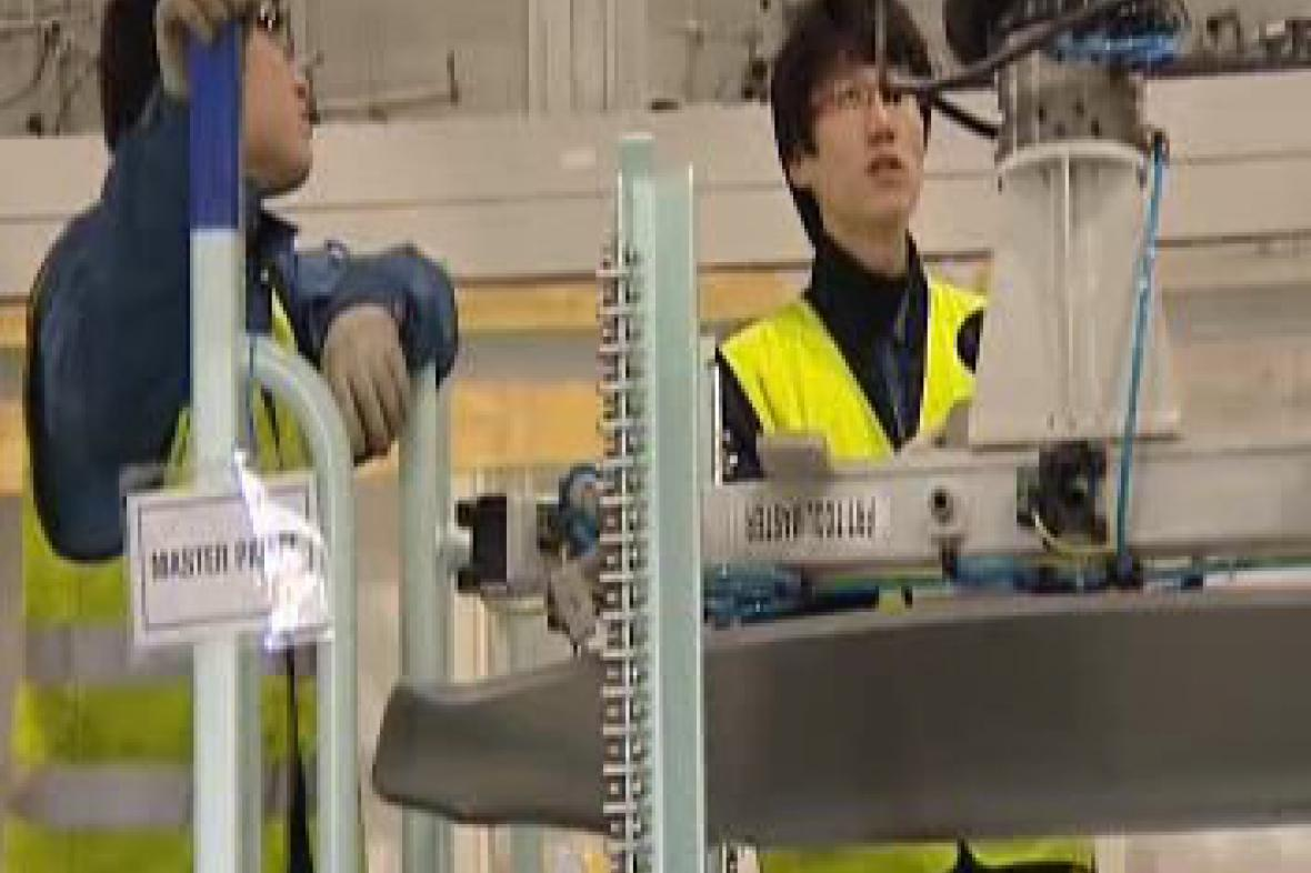 Přípravné práce v hale Hyundai