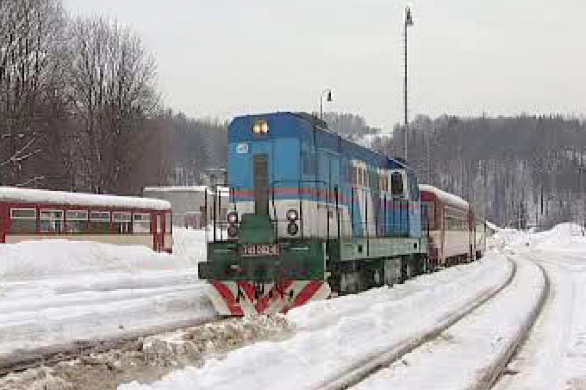 Vlaková souprava v Tanvaldu