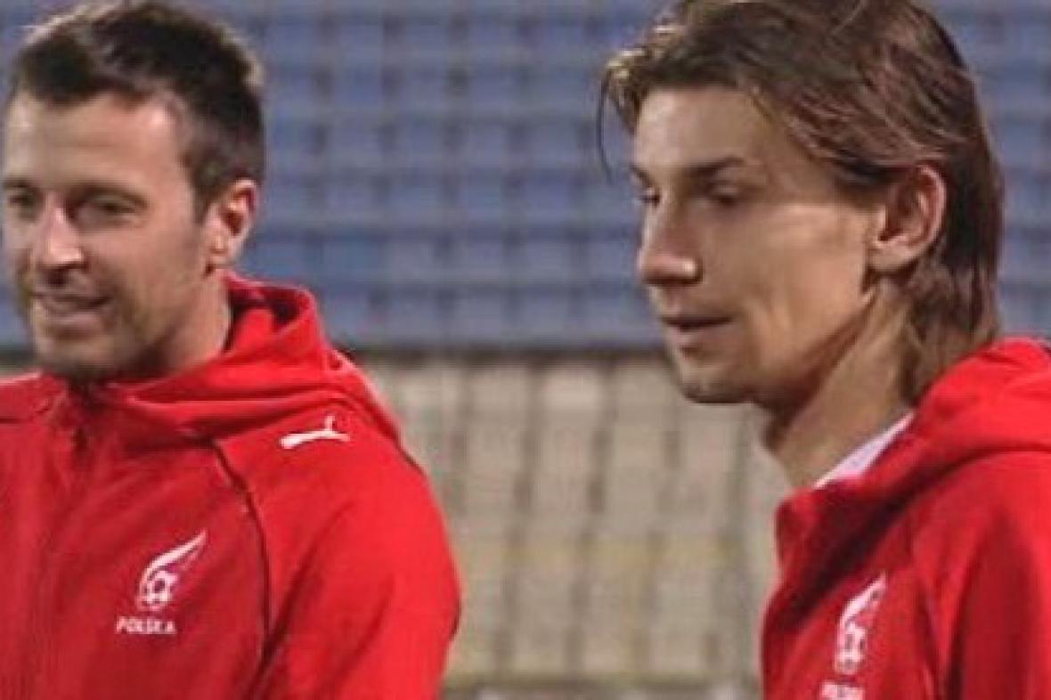 Trénink polské fotbalové reprezentace