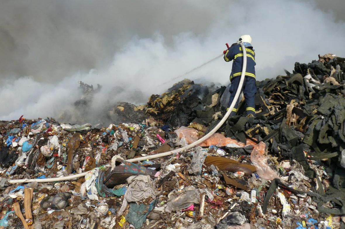Zásah hasiče