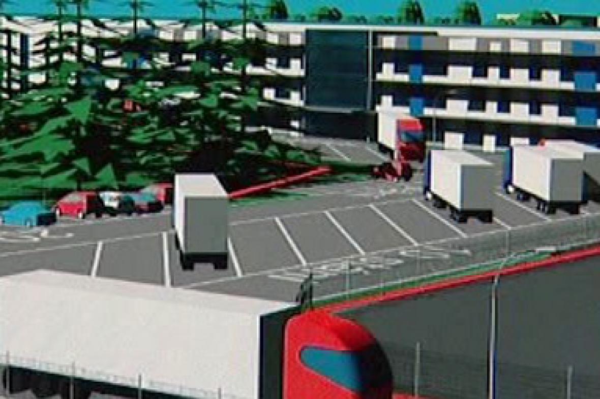 Projekt výstavby skladu železa