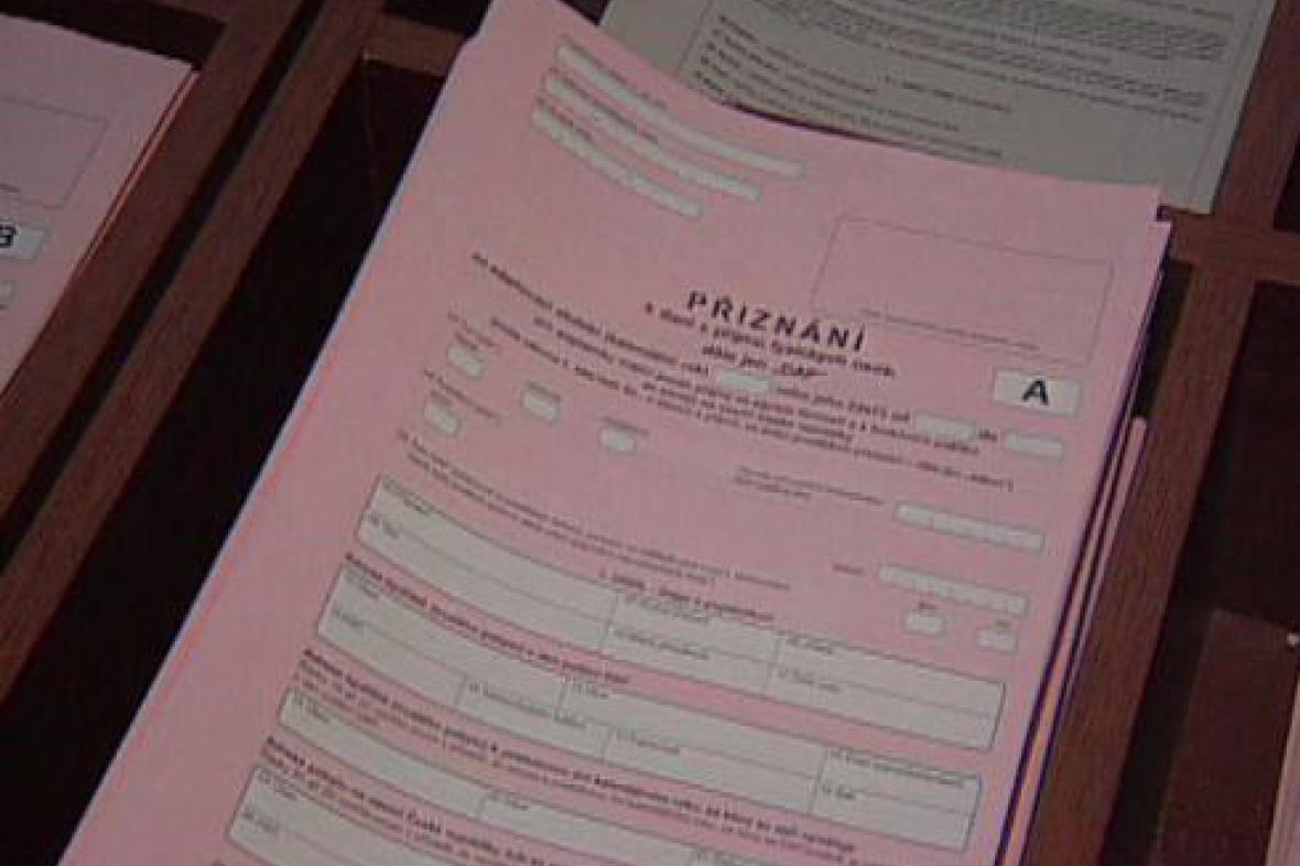Formulář daňového přiznání
