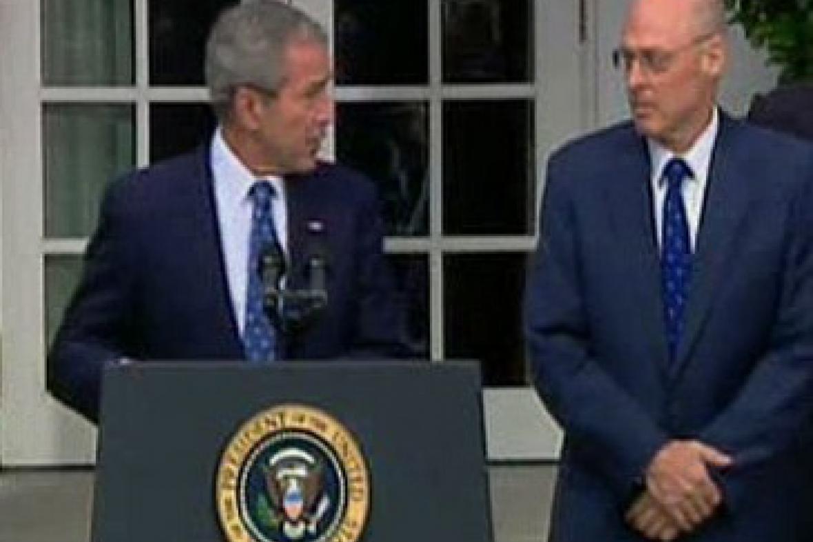 George Bush a Henry Paulson