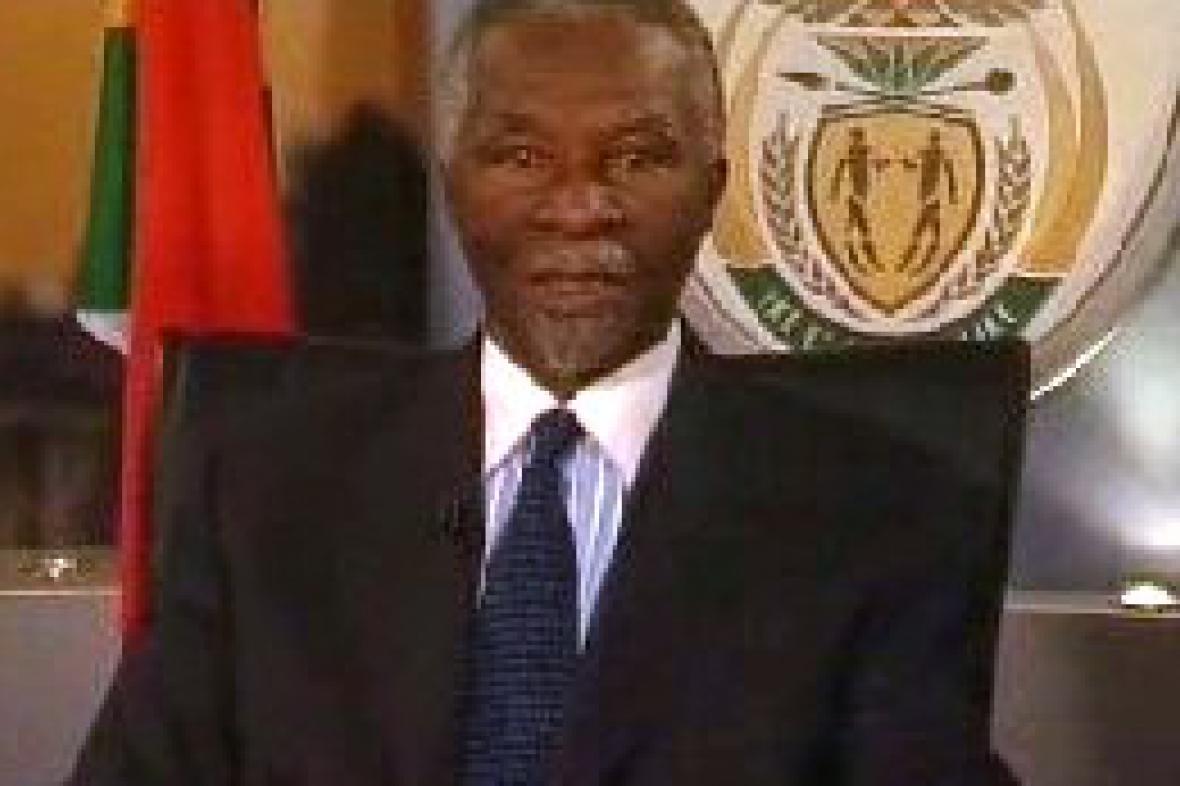 Odstupující prezident Thabo Mbeki
